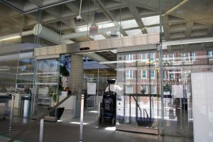 Hamilton Library Sliding door - Automatic Doors Burlington, London, Ottawa | Texas Access Controls