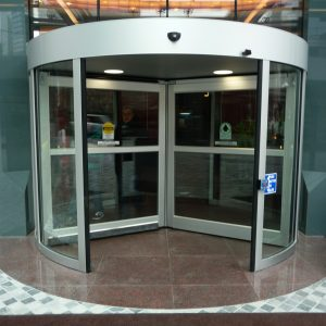 Revolving Door in bank By Horton Automatics of Ontario - Automatic Revolving Systems Ottawa, Burlington, London in Ontario