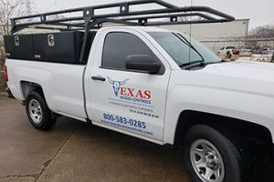 Texas Access Controls truck for automatic door service and repair