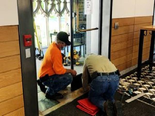 Texas Access Controls commercial door installation