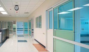 Sliding Door in Hospital Lobby Area