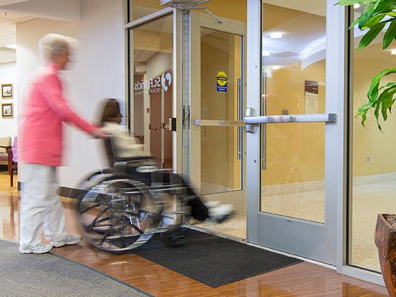 hands-free door opener in action from Texas Access Controls
