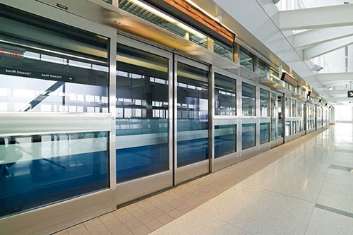 Platform screenn doors installed by Texas Access Controls